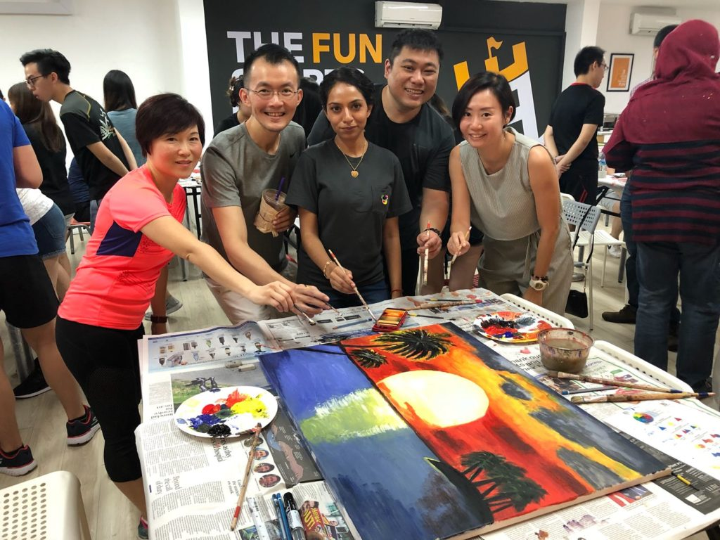 Team Building Company In Singapore - art jamming workshop