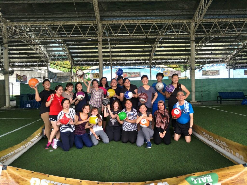 Team Building Company In Singapore - poolball