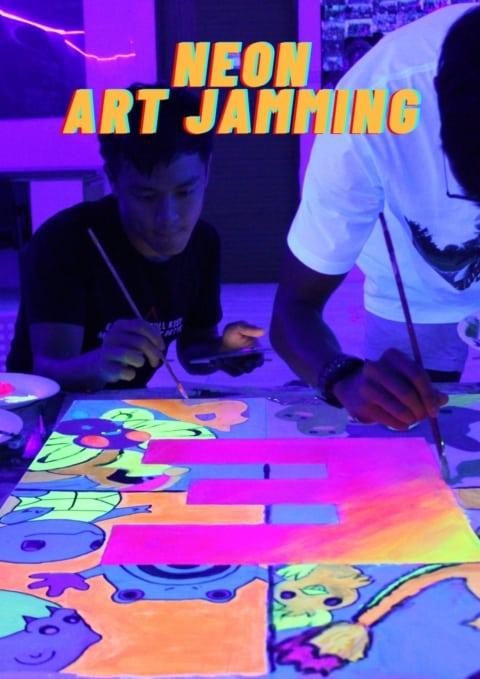 art jamming singapore - neon art jamming
